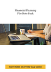 Financial Planning File Note Pack
