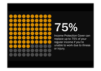 Income Protection 75% Dots Graphic