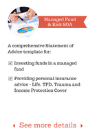 SoA Template - Managed Fund & Risk Template