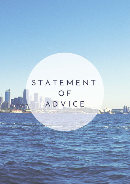 Statement of Advice Cover Page – Harbour