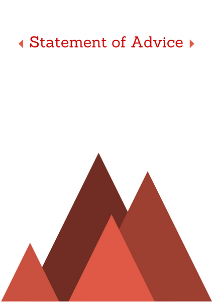 Statement of Advice Cover Page – Hills