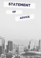 Statement of Advice Cover Page – Slant