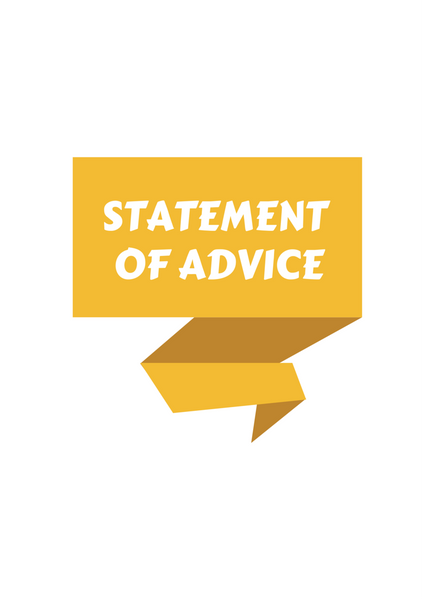 Statement of Advice Cover Page – Yellow