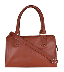 Brown Panel Strap Tote Bag