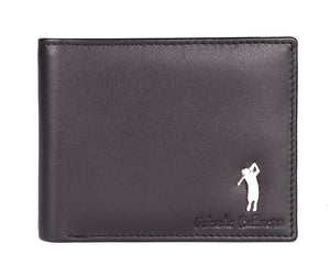 Robertoballmore Black Color Genuine RFID Leather Men's Wallet