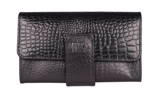 Robertoballmore Genuine Leather Croco Print Ladies Wallet