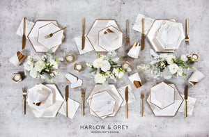 Blanc - White Marble Cocktail Napkins