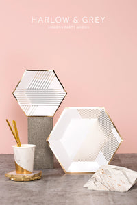 Blanc - White Marble Paper Cups