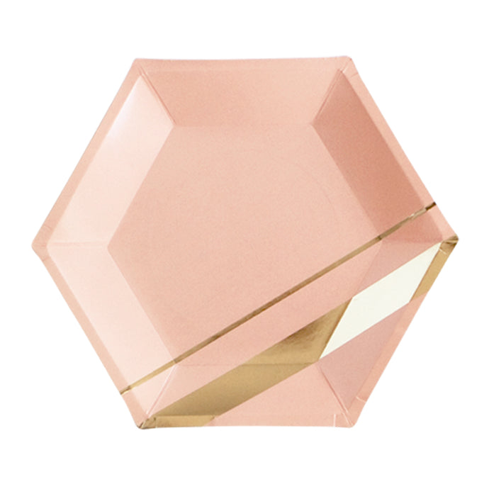 Goddess - Blush Hexagon Large Party Plates