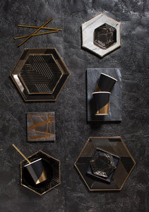 Noir - Black Marble Mini Plates