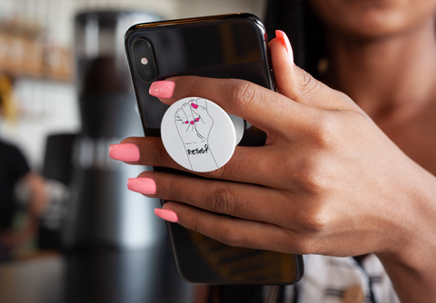 Resist Fist - Art Deco Pop Socket