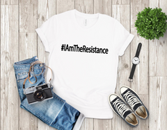 "Unisex Short Sleeve Jersey ""I Am The Resistance"" Tee - White"