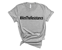 "Unisex Short Sleeve Jersey ""I Am The Resistance"" Tee - Light Grey"
