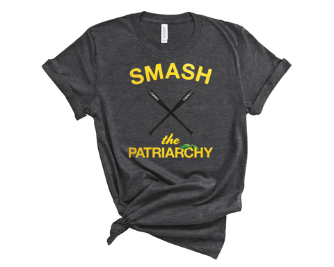 Unisex Short Sleeve Jersey Smash The Patriarchy Tee - Charcoal Grey