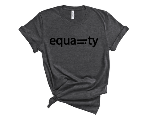 Unisex Short Sleeve Jersey Equality Tee - Dark Grey