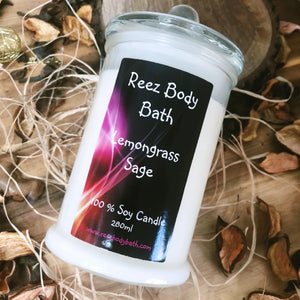 Soy Candle Lemongrass n Sage
