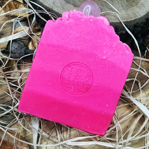 Crystal Soap Rose Quartz Scent Pink Lemonade
