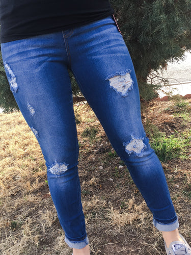Distressed Johanna Pants