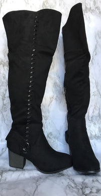 Knee High Boots Faux Suede