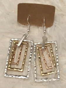 Rectangle Shape Earrings