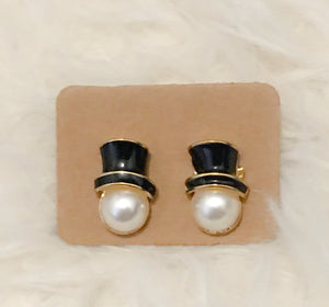 Christmas Snowman Stud Earrings