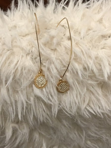 Pave Rhinestone Earrings