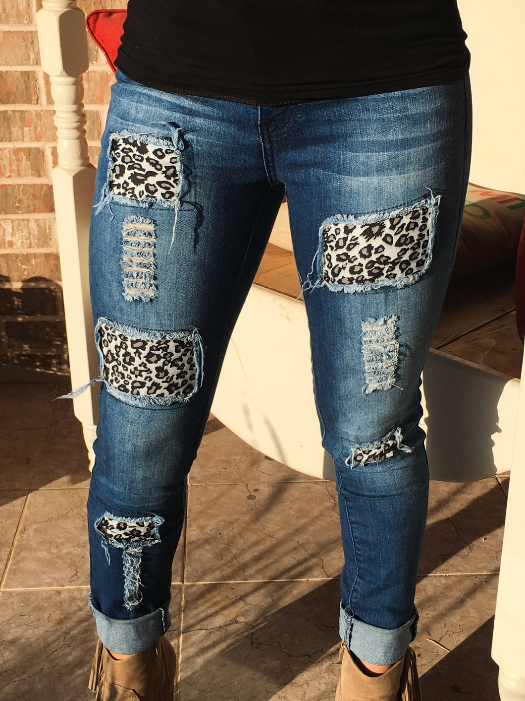 Leopard Jeggings