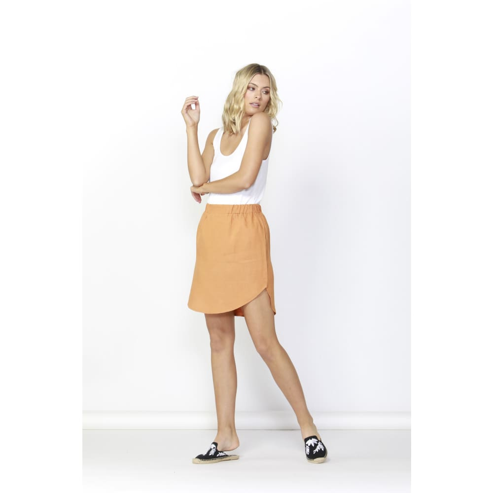 Duke Skirt | Rust - Betty Basics