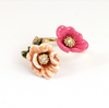 two-color flowers opening ring