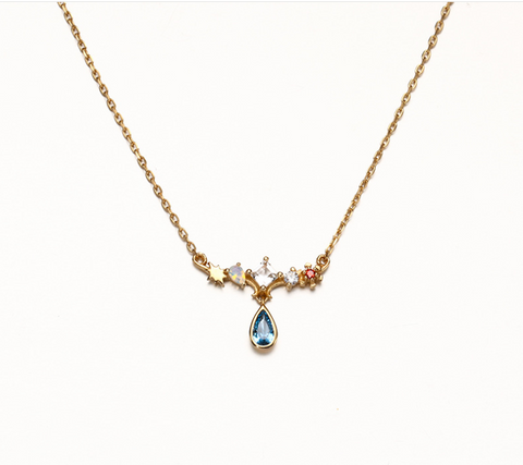 gemstone opal necklace