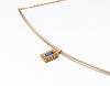 Natural iolite necklace
