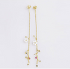 dangle flower long earring