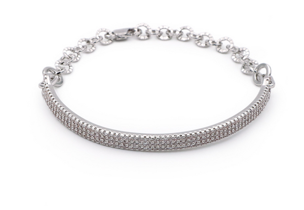 Arc pave bar bracelet