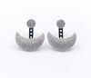 moon pave jacket earring