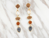 gemstone long earring