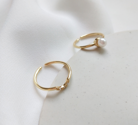 fresh water pearl stackable ring