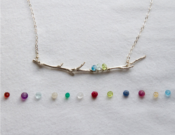 FAMILY BRANCH BIRTHDAYSTONE NECKLACE