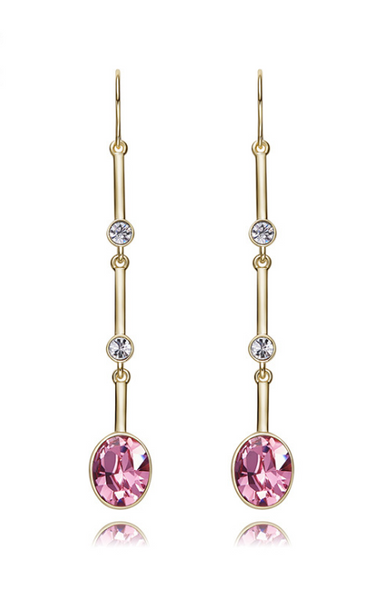 LONG DROP SWAROVSKI CRYSTAL EARRINGS