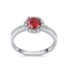 Delicate red garnet ring
