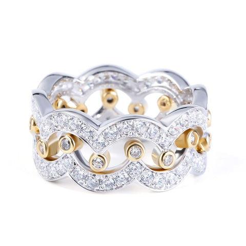 CROWN BAND TWO TONE RING