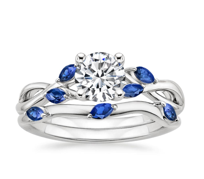 BRIDAL SET RING WITH SAPPHIRE