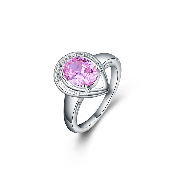 Pink CZ marquise cut rings