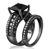 Black spinel paving ring set