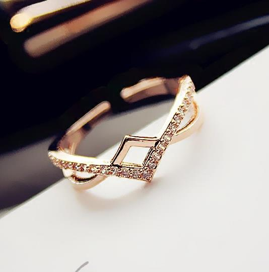 """14k gold ring women ring with cz stones"""