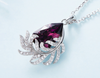FEATHER SWAROVSKI CRYSTAL NECKLACE
