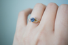 LUNETTE OPAL AND SAPPHIRE RING