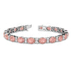 OVAL CUT GEMSTONE TENNIS BRACELET