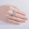 White round cut CZ ring