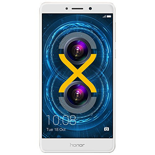 Huawei Honor 6X Dual Camera Unlocked Smartphone, 32GB Gold