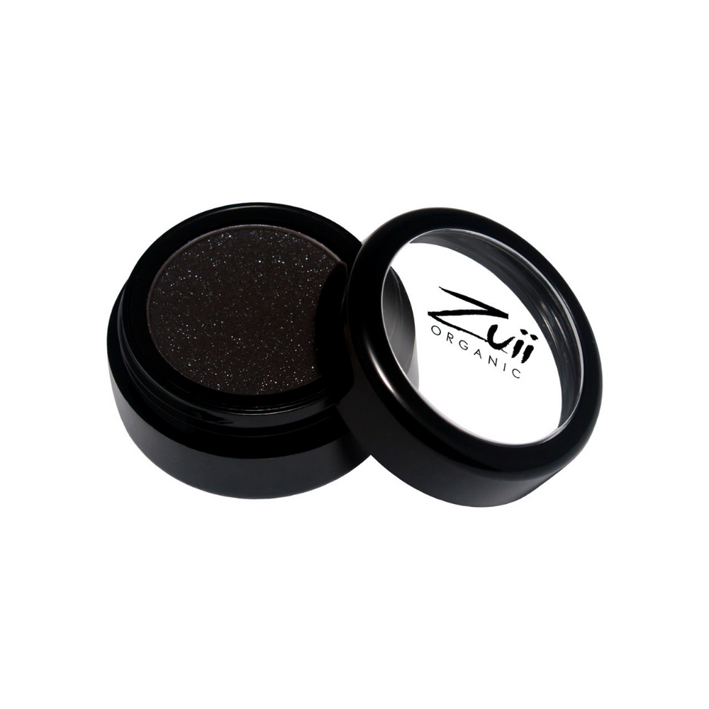 Zuii Organic Sparkly Black Eyeshadow (Black Diamond)